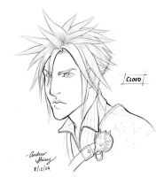 FF7 Cloud sketch by silentsketcher