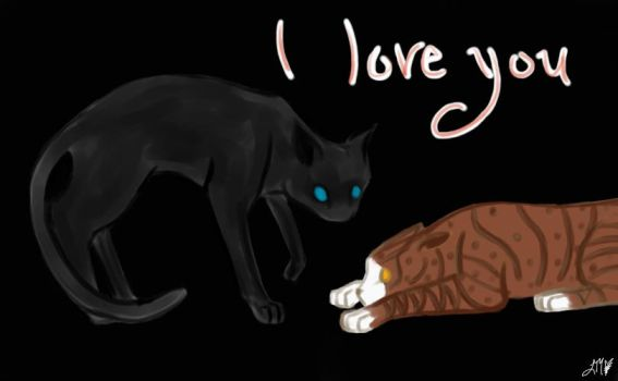 I Love You ::CrowfeatherxLeafpool:: by Buttonlight