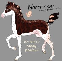 Nordannerfoal designholder 4917 by saphiraly