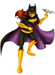 Batgirl Lineart (Version Two) Colored by CristalMyRabbit