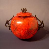 Chinese Dragon Vase by rhodespottery