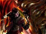 Feanor's Last Battle by Aquemenes1983