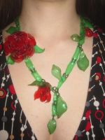 Rose Necklace 2 by recycledrapunzel