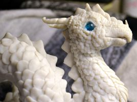 Dragon WIP close-up head by Alriell