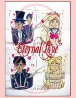 'Eternal Love' Drinking Glass by ForesakenFaerie