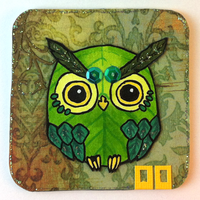 Owl Card 02 by Myrntai