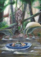 Jurassic Park novel illustration #2 by eatalllot