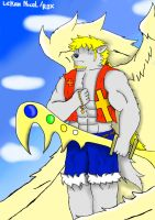 Nayth the angelic white wolf. by Lickan-Nicol