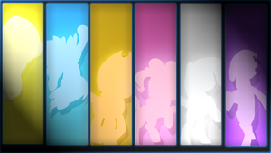 Mane6 background by ScootsNB