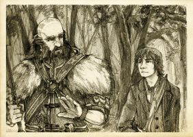 Discovering Mr Baggins - Dwalin by Nazgullow