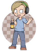 Cartoon Pewds by Amphany