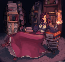 Witch of the Library by MelonXIV