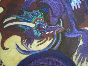 Close up Blue Dragon Drum