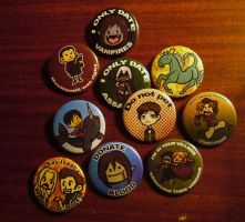Anime Expo Buttons by Kaxen6