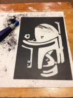Boba Fett scratch art... by Threedayslong