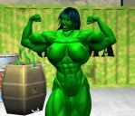 She hulk 3 by WolfsMuscleGirls
