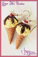 Sundae IceCream Cone -Earrings by Jeyam-PClay