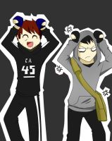 AoF/ David and Simon Caramelldansen(? by Manuela-jak-daxter-2