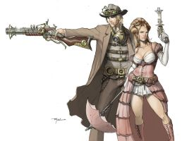 Steampunk Duo by sghoul