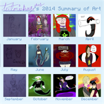 2014 Summary Of  Art by Artemis-Dragunus