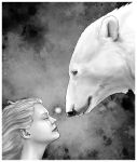 The mermaid and the polar bear by TopGon
