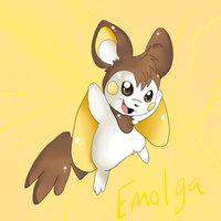 Shiny Emolga by Lustrous-Dreams