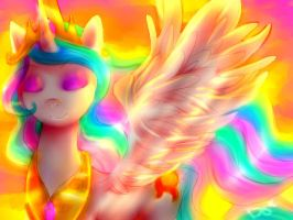 Her Majesty's Sunset by MelodyBell