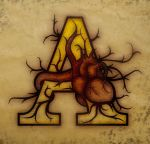 Letter with heart by monographo