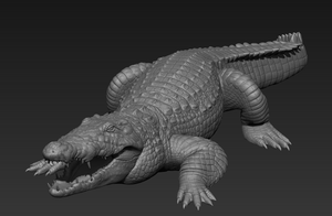 Nile Crocodile study by SinKunArts
