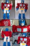 Needle-Felted Optimus Prime by GlassCamel