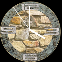 Stone-Clock-With-Mouse-Zoom 4-3-3 by xordes