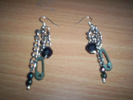 my first pair of earrings by something-i-am-not