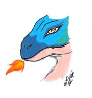 Tablet Practice: Dragon Doodle by Dusk-Wolf
