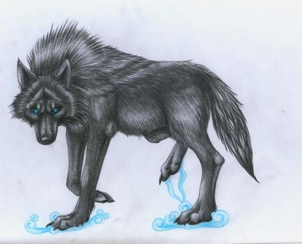 Shadow Wolf by punxnotdead309