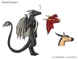Fantasy dragons by Alister-Murkerry
