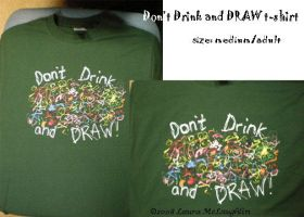 Drink and Draw T-shirt by Scribble-Chick