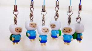 Adventure Time Finn Charms by mAd-ArIsToCrAt