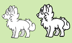 Chibi Wolf Lines by SickAede