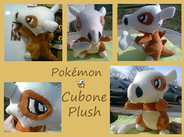 Cubone Plush by methuselah-alchemist