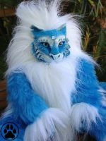 --SOLD-- Ice cat plush /doll OOAK by CreaturesofNat
