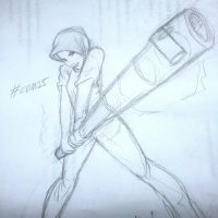 Sketch of Girl with Steering Lock by mohdsyukri83