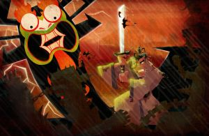 Jack vs. Aku by j-man2012