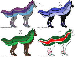 Wolf adopts 5 points each! by Flyingfetlocks