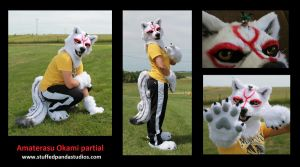 Amaterasu fursuit cosplay partial by stuffedpanda-cosplay