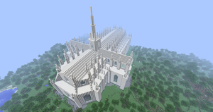 Minecraft - Duomo di Milano, rear view by MinecraftArchitect90