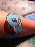 Squirtle- Face Painting by sazmullium