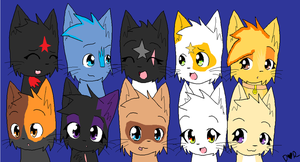 Dove Clan cats by stingfish101