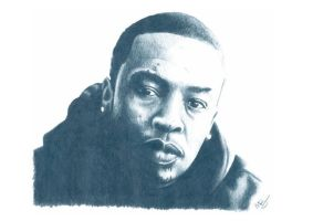 Dr Dre Pencil Sketch by DJMark563