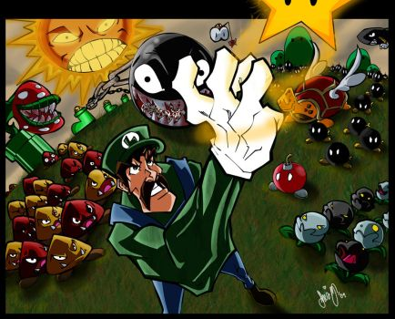 Luigi vs The World by SheaZubair