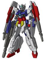 AGE-2DB Gundam AGE-2DB Double Bullet MS mode by unoservix